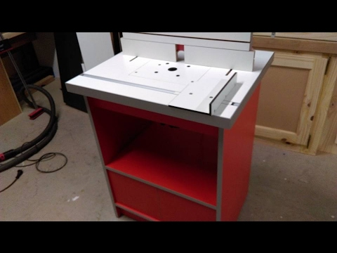 fabrication une table de d fonceuse partie 1 arnaud et gaetan build a router table part 1. Black Bedroom Furniture Sets. Home Design Ideas