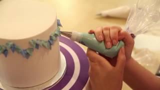 Как украсить торт используя насадки для крема