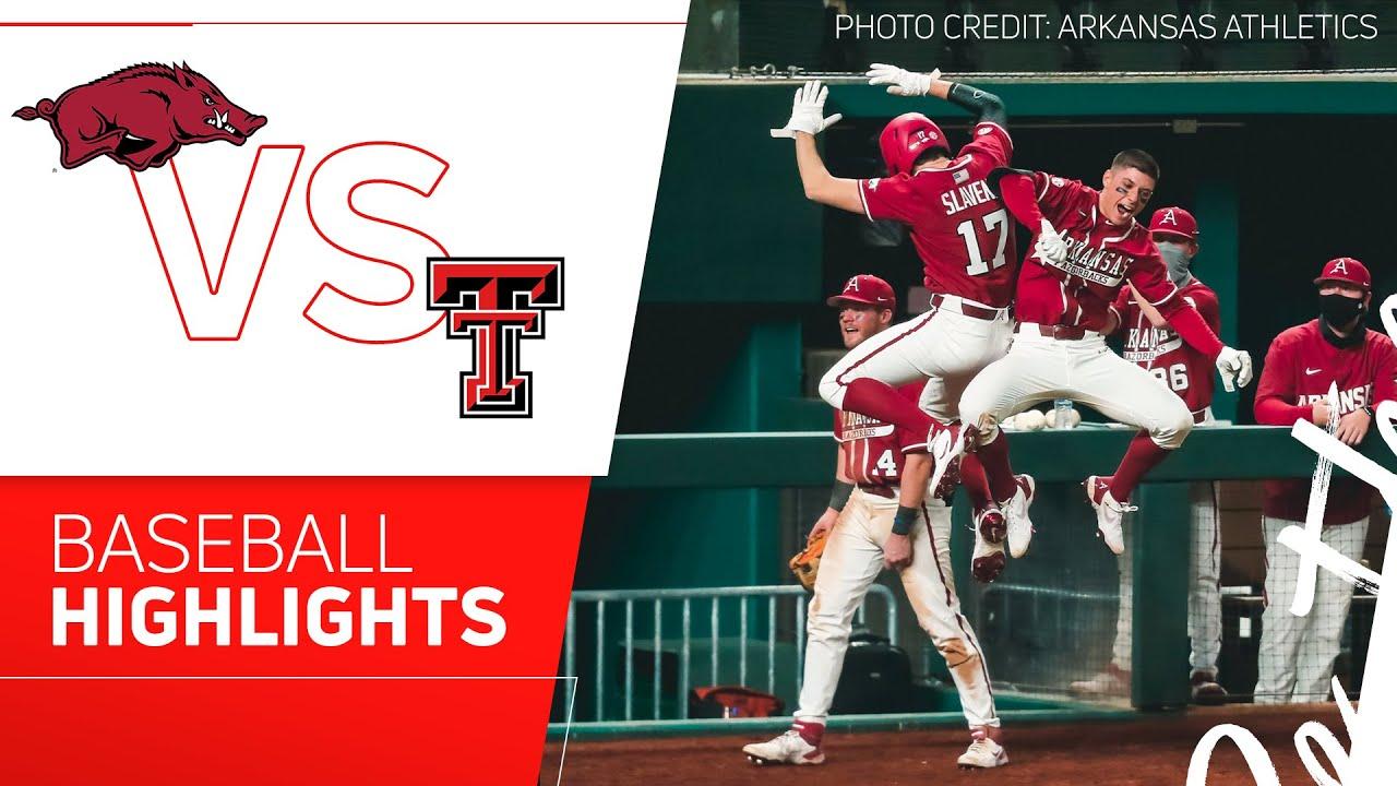 Download Texas Tech vs Arkansas Baseball Highlights | 2021 State Farm College Baseball Showdown