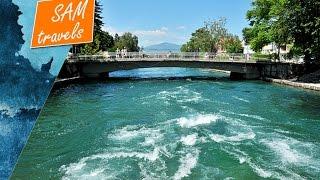 Seyahat Makedonya: Struga Kenti ve Kara Drim Nehri boyunca köprüler