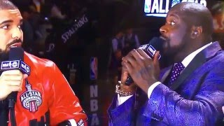 Drake And Shaq Back To Back Remix Freestyle NBA AllStar Game Drake Raps To Shaq S Beat Toronto