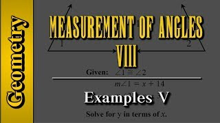 Geometry: Measurement of Angles (Level 8 of 9)   Examples V
