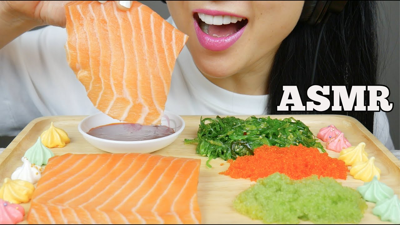Asmr Salmon Sashimi Slab Wasabi Tobiko Eggs Fire Sauce Eating Sounds No Talking Sas Asmr Youtube The most popular channels are: asmr salmon sashimi slab wasabi tobiko eggs fire sauce eating sounds no talking sas asmr