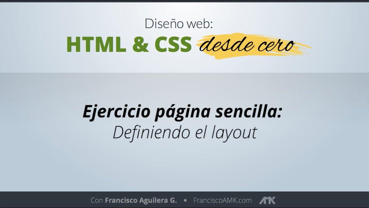 HTML y CSS Desde Cero – 20. Ejercicio Página Sencilla