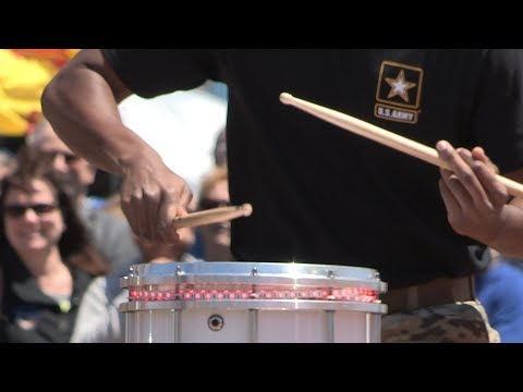 DrumLine Battle - US Army TRADOC Band VS. USMC Quantico Band