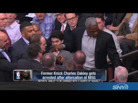 More Knicks Drama: Charles Oakley ejected and arrested at MSG