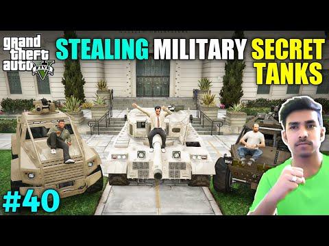 I STOLE TOP SECRET TANKS FROM MILITARY BASE   GTA V GAMEPLAY #40
