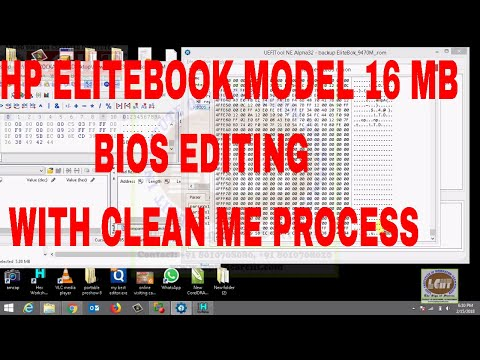 HP Elite Book 16 MB Bios Editing With Clean Me region bios