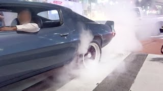 【渋谷】ローライダー、カスタムカーがパフォーマンス走行‼️/Lowrider, custom cars in Shibuya Japan. Burnout, Rev, Jump, and more!