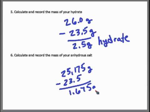Lab Percent Water In Hydrate