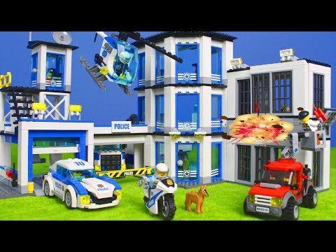 LEGO POLIZEI Kinderfilm: Polizeiauto Polizeistation Spielzeugautos für Kinder | Lego Episode deutsch