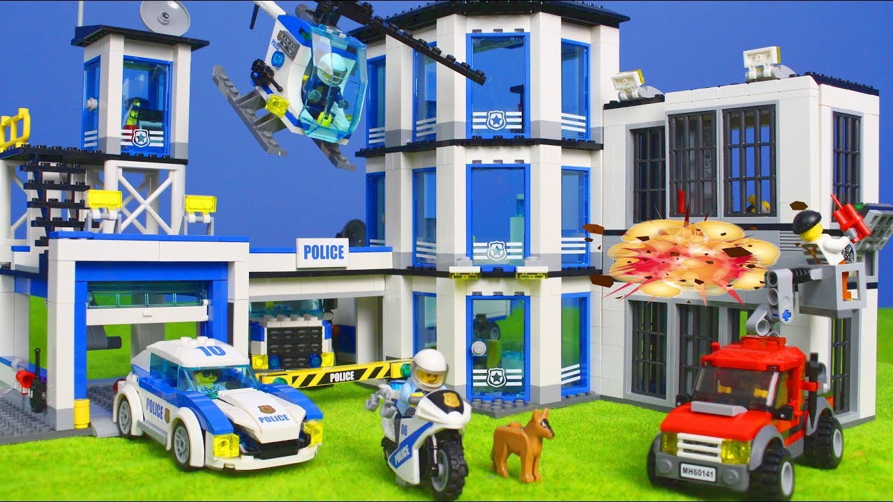 lego polizei polizeiauto polizeistation spielzeugautos f r kinder unboxing episode deutsch. Black Bedroom Furniture Sets. Home Design Ideas