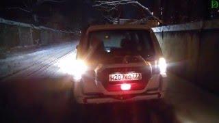 Ночной обзор Mitsubishi Pajero IV (4к, UHD)