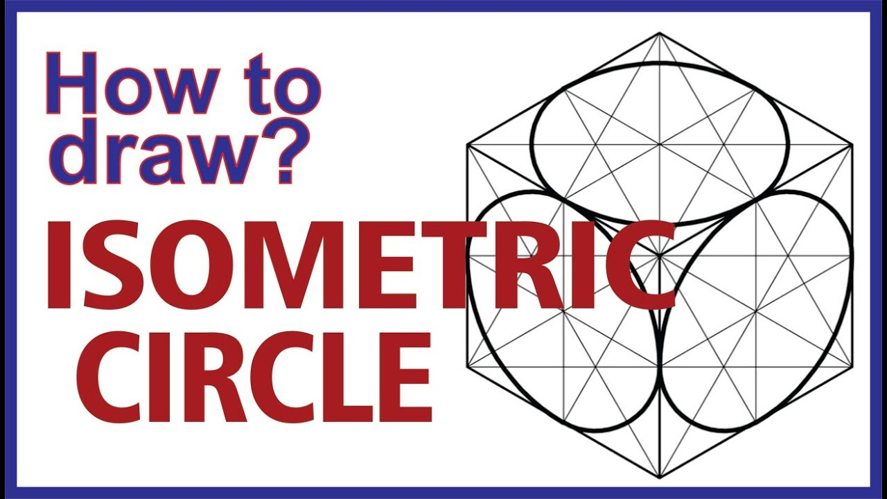(Hindi) How to draw Isometric Circle? #Engineering Drawing