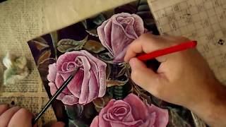 Как нарисовать красивую розу поэтапно 3 видеоурок
