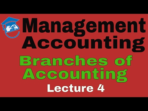 Management Accounting   Different Branches of Accounting   Lecture 4