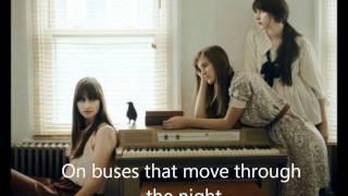 Sad Song - Au Revoir Simone with Lyrics