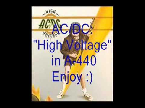 "AC/DC ""High Voltage"": Retuned A-440 Version"