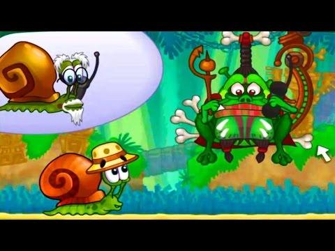 Мультик ИГРА для детей Приключения Улитки Боба в джунглях Snail Bob (1 серия)