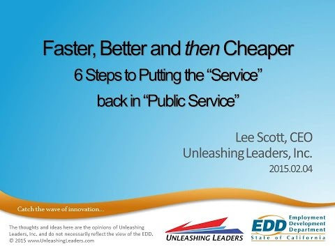 GT2015 Session28 - Faster Better then Cheaper - Unleashing Leaders
