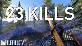 23 KILLS WORLD *RECORD* on SOLO FIRESTORM! | Battlefield V Record Kill Firestorm Gameplay