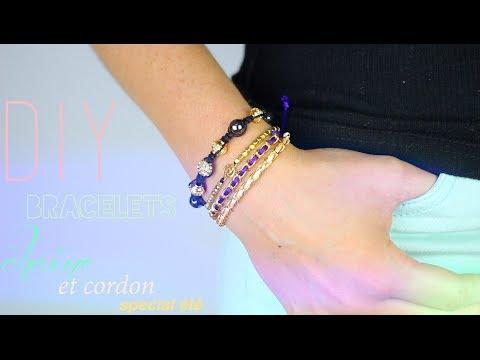 diy tuto bracelets colores d ete chaine et cordon friendship chain bracelet english subs. Black Bedroom Furniture Sets. Home Design Ideas