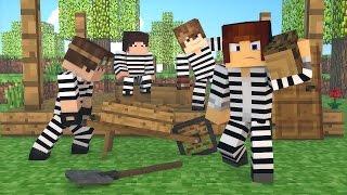 Minecraft : CONSTRUIMOS UMA CASA NA PRISÃO !! - ( Polícia e Ladrão)