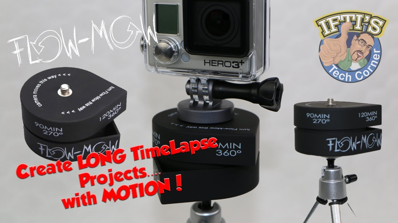 Flow Mow The 360 2 Hour Time Lapse Panner For Gopro Iphone
