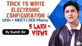 Trick to Write ELECTRONIC CONFIGURATION of Elements