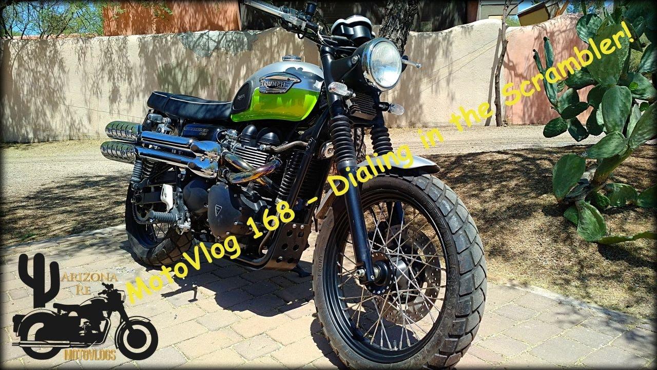 MotoVlog 168 - Dialing in the Scrambler / Carb Talk - Triumph Scrambler 900
