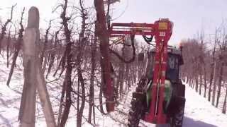 Mechaniczne cięcie jabłoni 2013 II Deu...