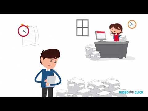 Asset management system online demonstration via 2d animation studio.