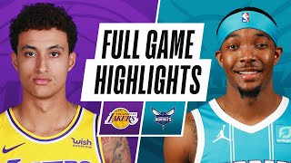 Download LAKERS at HORNETS | FULL GAME HIGHLIGHTS | April 13, 2021