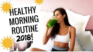 My Healthy Morning Routine 2018 // Mindfulness, Home Workout, Breakfast