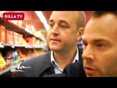 Fredrik Reinfeldt köper avokados med David Hellenius