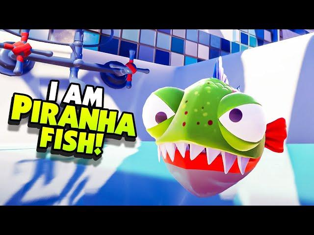 CHOMPING My Way Through The CITY As PIRANHA FISH! - New I AM FISH Gameplay