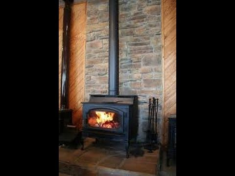 Here is a brief explanation on how to install chimney pipe for a freestanding wood burning stove. I also show the difference between black stove pipe and cla...