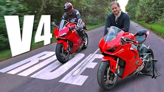 Owning a Ducati Panigale V4 2019. First ride review of Ducati's latest 214bhp V4 Superbike