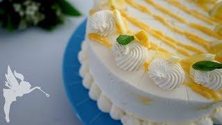 Zitronen Mascarpone Torte - frische, leichte Zitronen Torte mit Lemon Curd - Kuchenfee