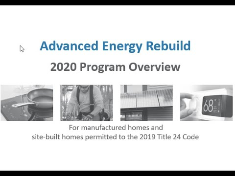 2020 Advanced Energy Rebuild Program Overview