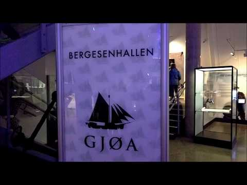 The Gjøa ship exhibit at the Fram Museum in Oslo, Norway