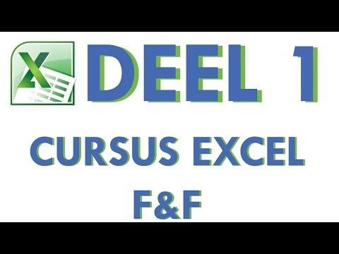 Cursus Excel Geavanceerde functies en formules Deel 1