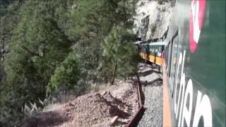 El Tren Chepe, e/ San Rafael y Cuiteco, México 01/Jan/2014 #3 メキシコ鉄道、サンラファエルからクイテコ駅へ