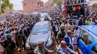 See How Sokoto State Residents Madly Welcomed President Buhari Today