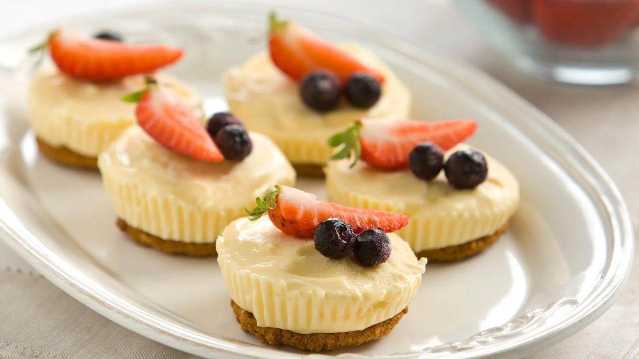 3 ingredient little lemon cheesecakes youtube forumfinder Image collections