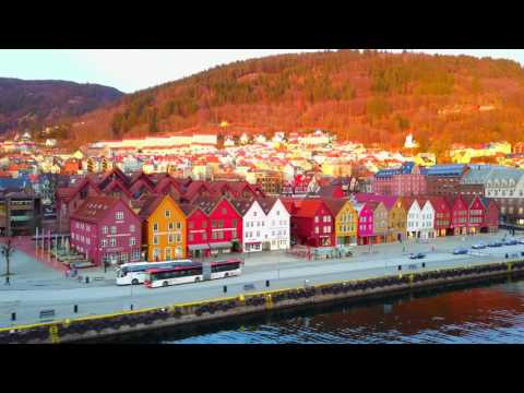 Amazing city of Bergen filmed with Drone (4K)