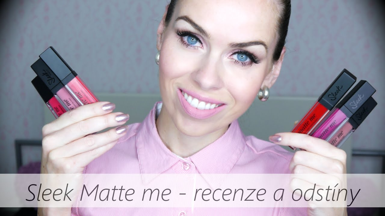 Sleek Matte Me Ultra Smooth Lip Cream Recenze A Odstny Youtube Nyx
