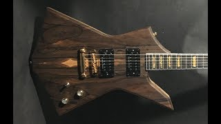 Handmade Electric Guitar Body Build Ziricote/Black Limba (Full Build)