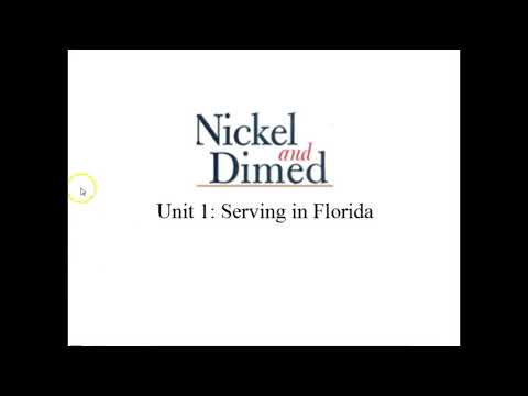Видео Serving in florida barbara ehrenreich thesis