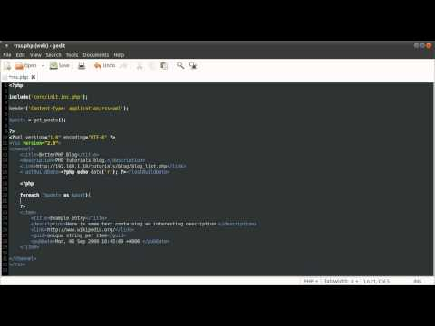 PHP Tutorial: RSS Feed Generator [part 01]